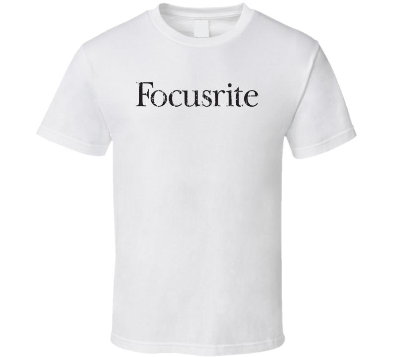 Focusrite Microphone Musician DJ Cool Worn Look T Shirt