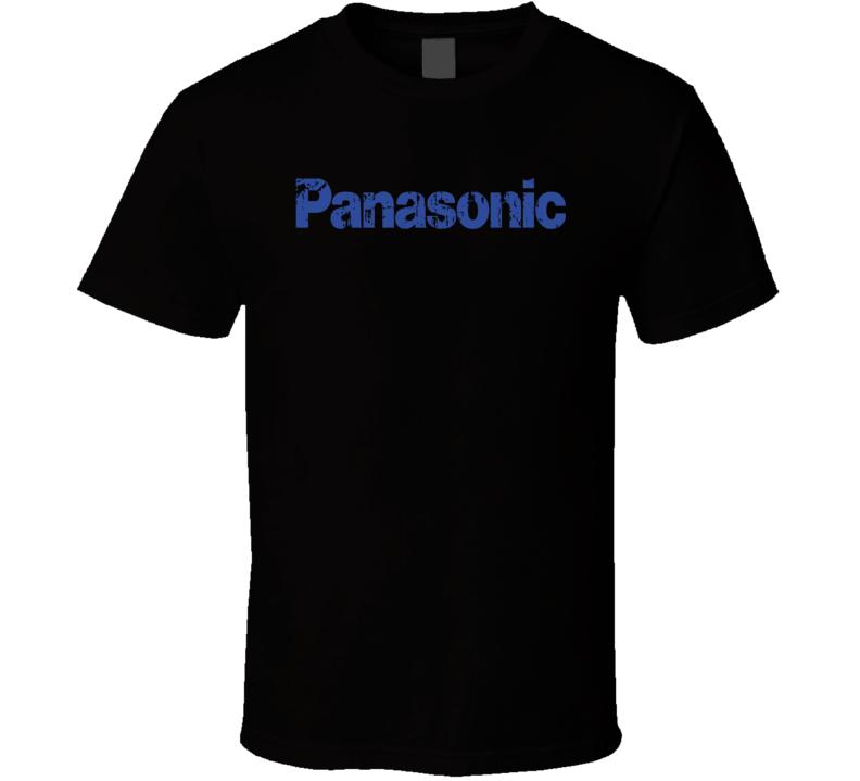 Panasonic Microphone Musician DJ Cool Worn Look T Shirt