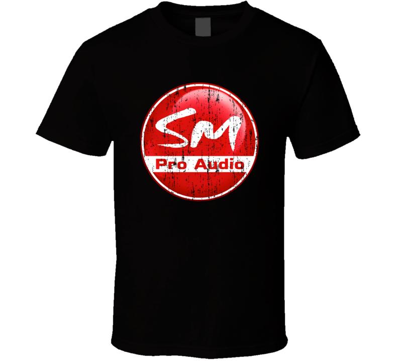 SM Pro Audio Microphone Musician DJ Cool Worn Look T Shirt
