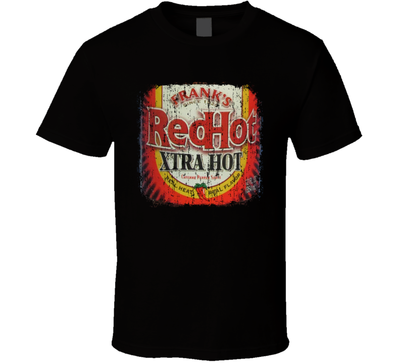 Frank's Red Hot Xtra US Hot Sauce Lover Worn Look Fun Cool T Shirt
