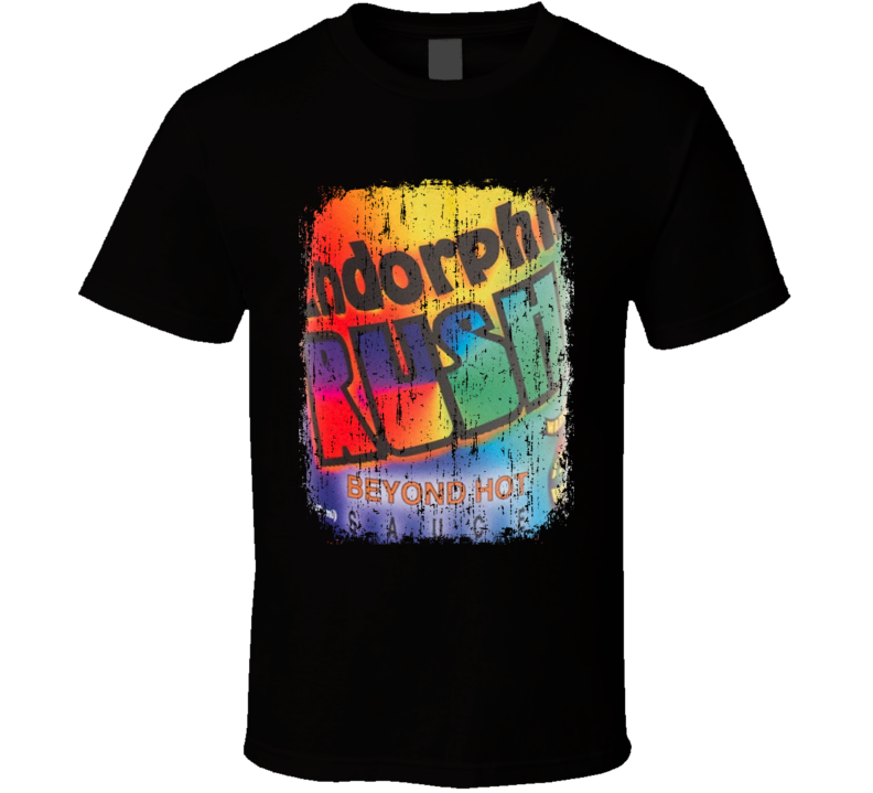 Endorphin Rush Mexico Hot Sauce Lover Worn Look Fun Cool T Shirt