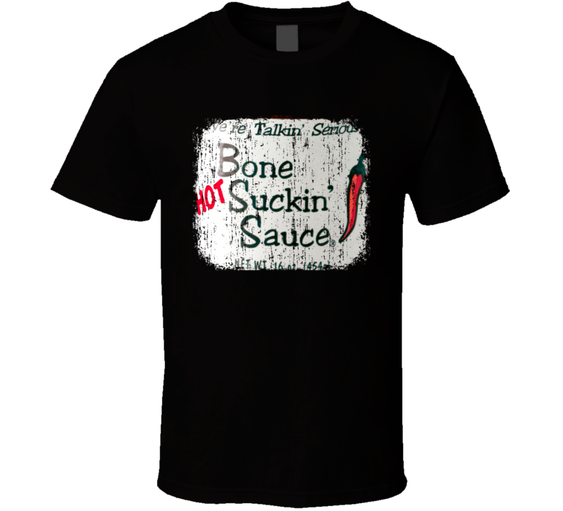 Bone Suckin Rib Rub Florida Hot Sauce Lover Worn Look Fun Cool T Shirt