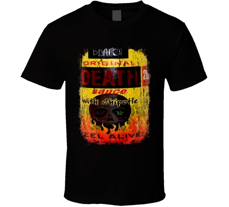 Blair's Original Death US Hot Sauce Lover Worn Look Fun Cool T Shirt