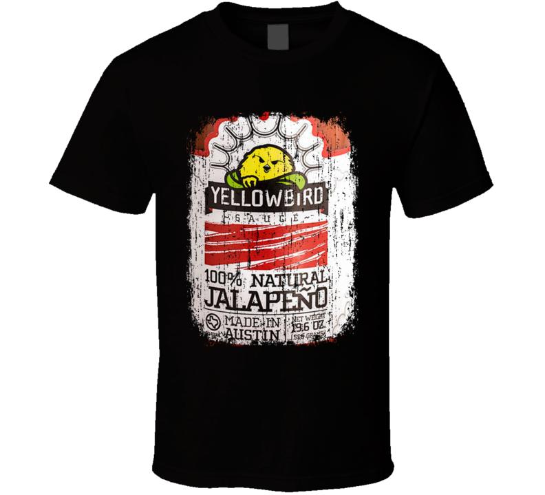 Yellowbird Sauce USA Hot Sauce Lover Worn Look Fun Cool T Shirt