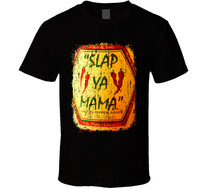 Slap Ya Mama Israel Hot Sauce Lover Worn Look Fun Cool T Shirt