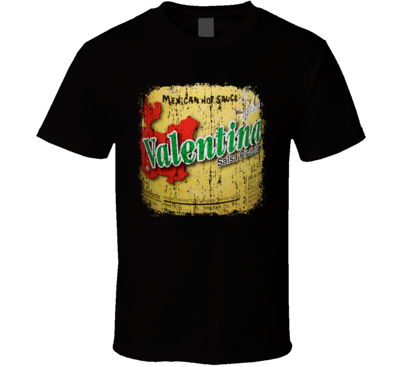 Valentina Mexico Hot Sauce Lover Worn Look Cool T Shirt