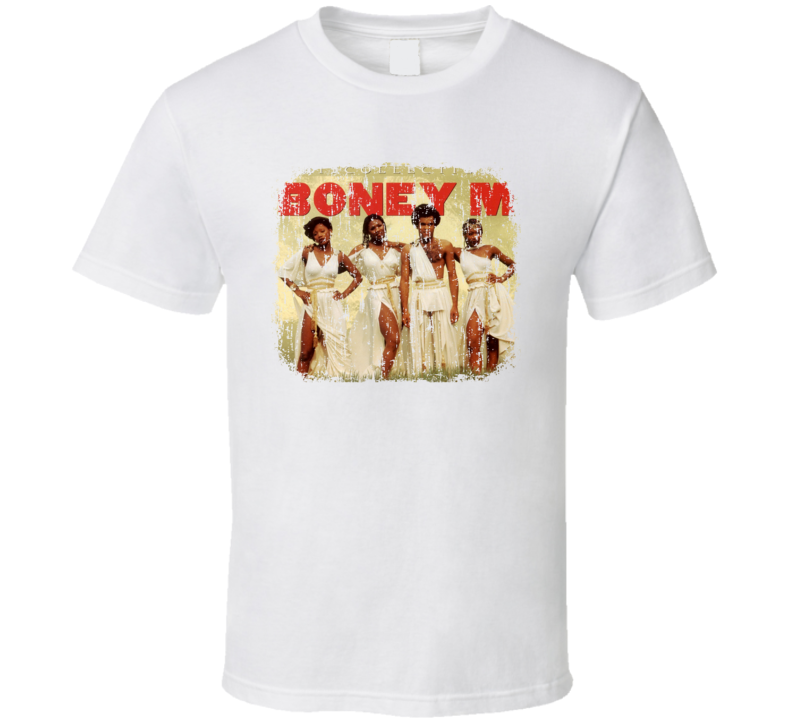 Boney M. 70s Disco Funk Band Artist Old School Music Worn Look T Shirt