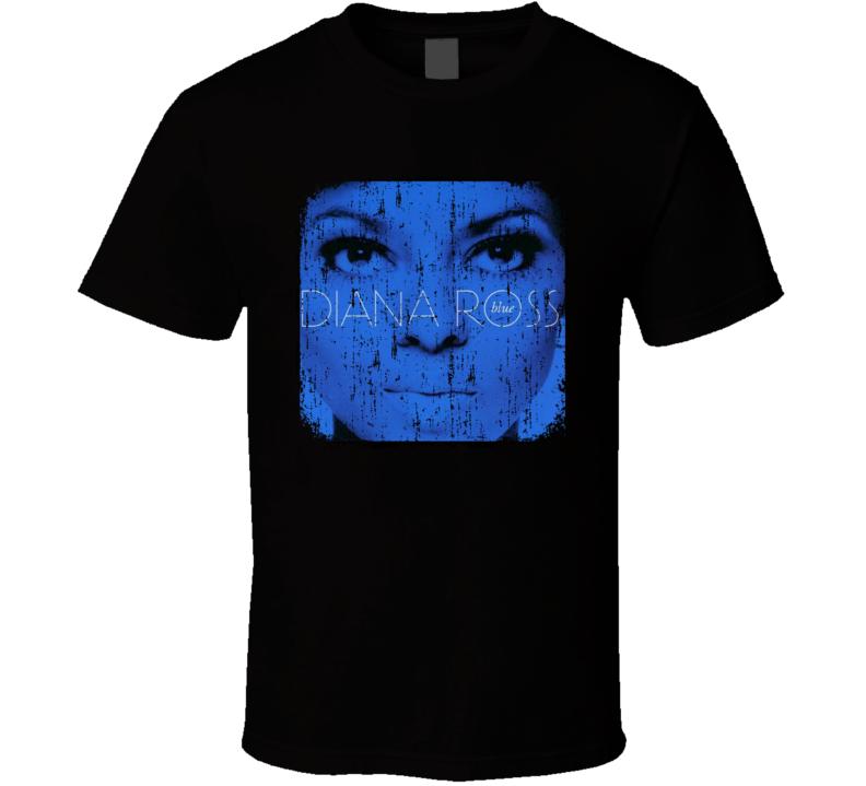 Diana Ross 70s Disco Funk Artist Old School Music Worn Look T Shirt