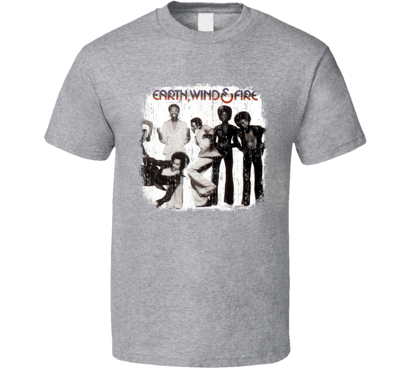 Earth, Wind & Fire 70s Disco Funk Band Old School Worn Look T Shirt