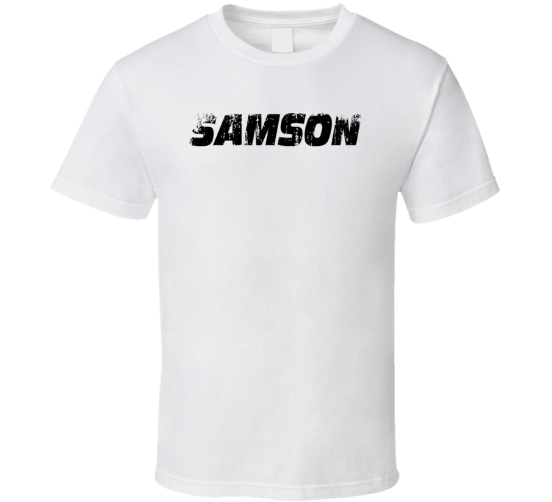 Samson Technologies Microphone Musician DJ Cool Worn Look T Shirt