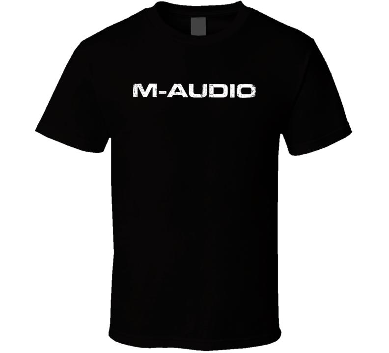 M-Audio Microphone Musician DJ Cool Worn Look T Shirt