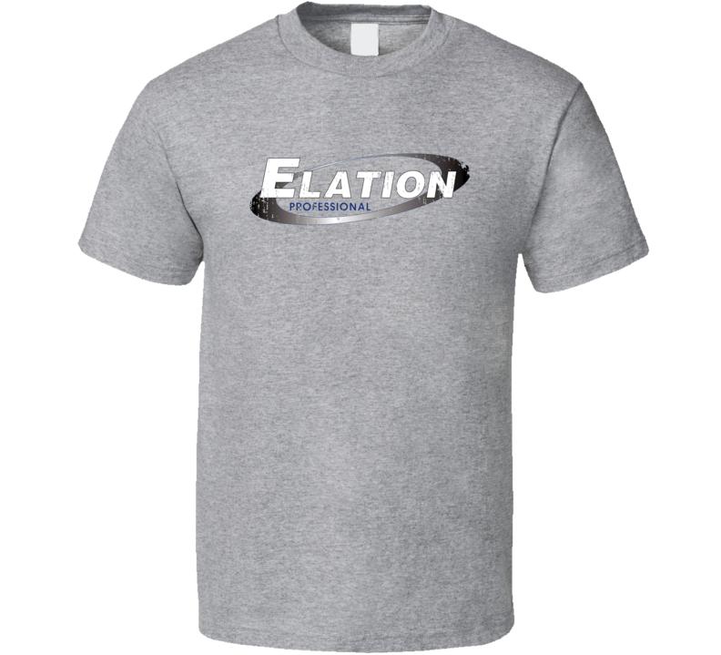 Elation Microphone Musician DJ Cool Worn Look T Shirt