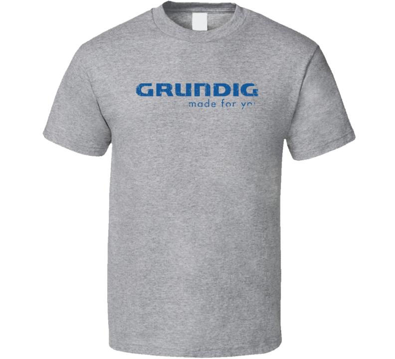 Grundig Microphone Musician DJ Cool Worn Look T Shirt
