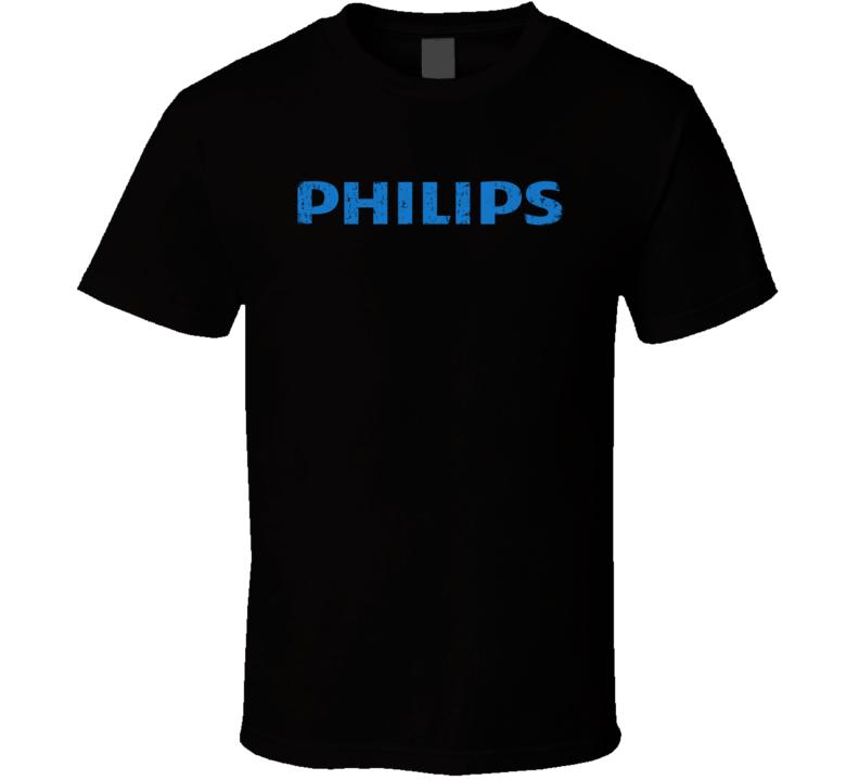 Philips Microphone Musician DJ Cool Worn Look T Shirt