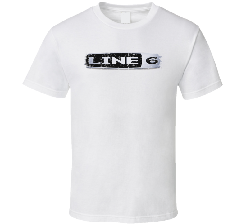 Line 6 Microphone Musician DJ Cool Worn Look T Shirt