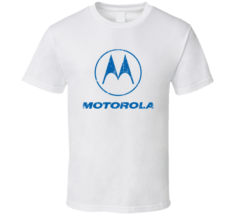 Motorola Microphone Musician DJ Cool Worn Look T Shirt