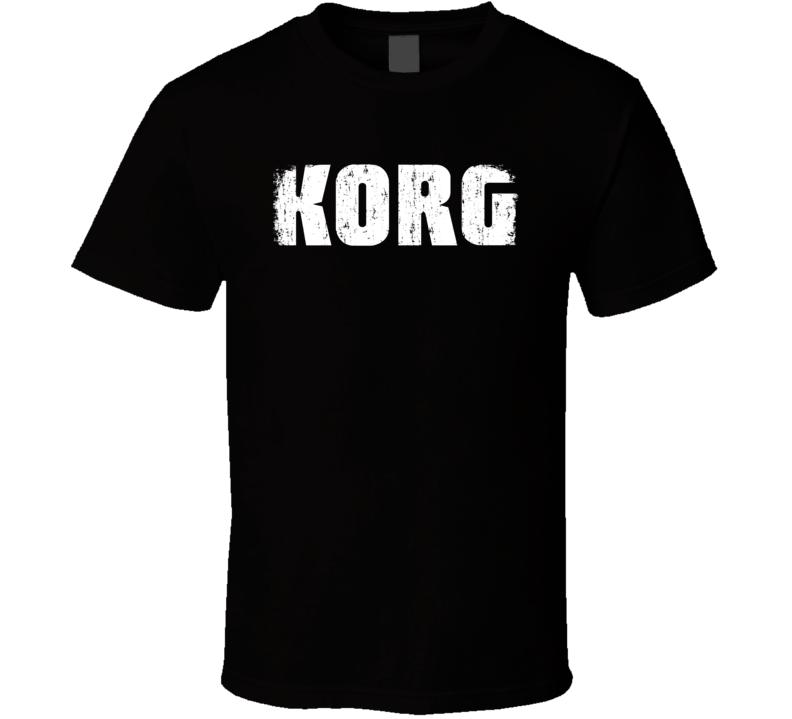 Korg Microphone Musician DJ Cool Worn Look T Shirt