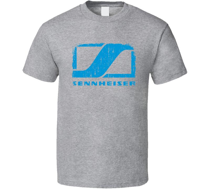 Sennheiser Microphone Musician DJ Cool Worn Look T Shirt