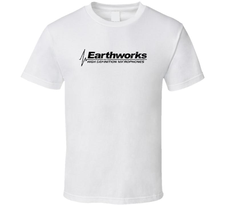 Earthworks Microphone Musician DJ Cool Worn Look T Shirt