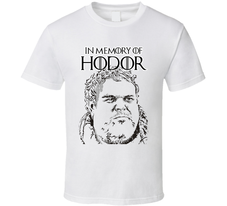 Memory of Hodor Game Of Thrones Character  R.I.P Worn Look T Shirt