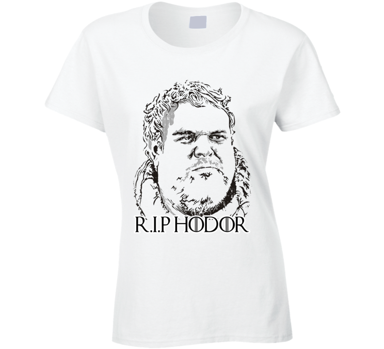 R.I.P. Hodor Game of Thrones Memorial Worn Look Ladies Cool T Shirt