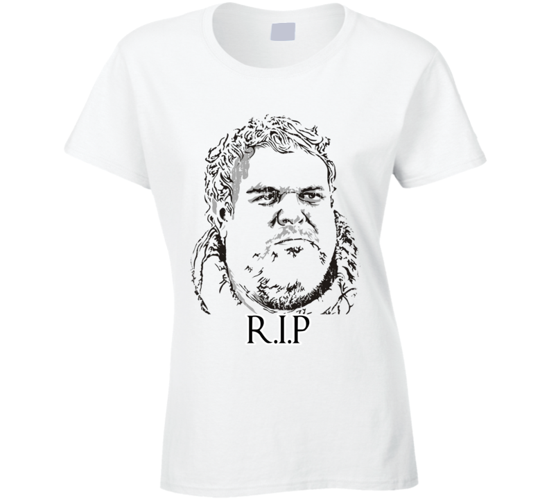 R.I.P. Hodor Game of Thrones Memorial Worn Look Ladies Cool T Shirt