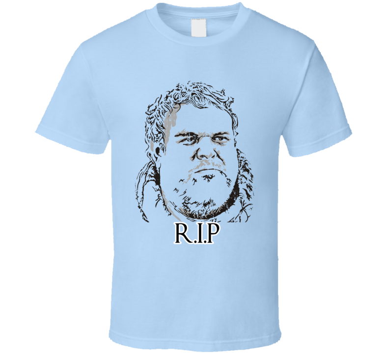 hR.I.P. Hodor Game of Thrones Character Memorial Worn Look T Shirt