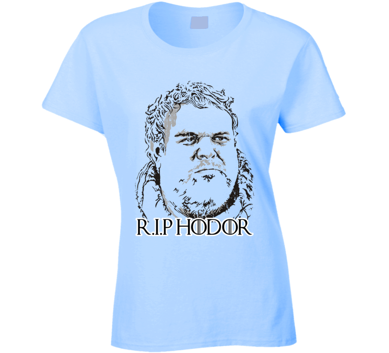 R.I.P Hodor Game of Thrones Memorial Worn Look Ladies Cool T Shirt