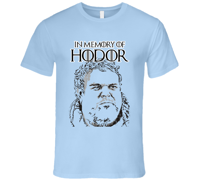 R.I.P Hodor Game of Thrones Memorial Worn Look Cool Mens Fitted T Shirt