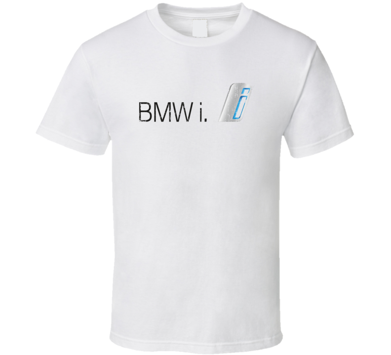 BMW i8 Electric Car Cool Sustainable Green Worn Look T Shirt