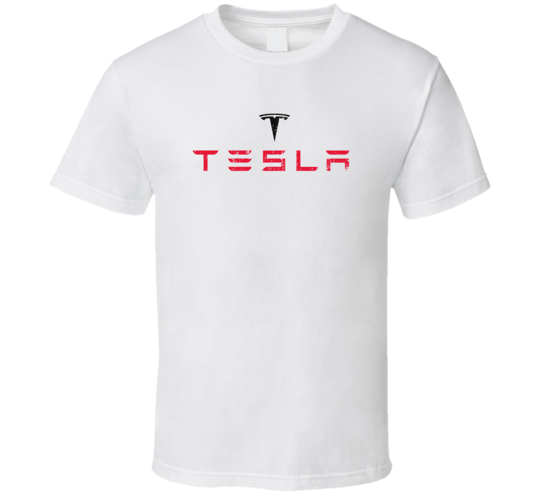 Tesla Electric Car Cool Sustainable Green Worn Look T Shirt