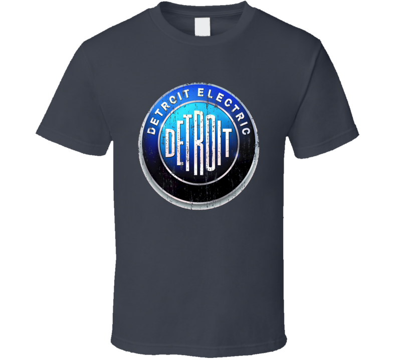 Detroit Electric Car Cool Sustainable Green Worn Look Cool T Shirt