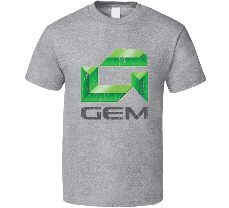 GEM Car Electric Cool Sustainable Green Worn Look T Shirt