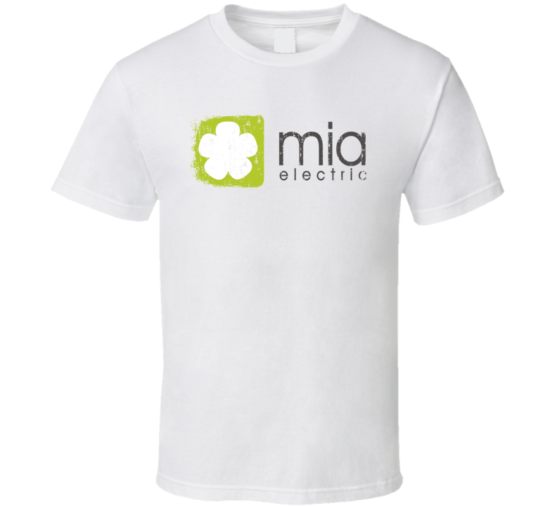Mia Electric Car Cool Sustainable Green Worn Look T Shirt
