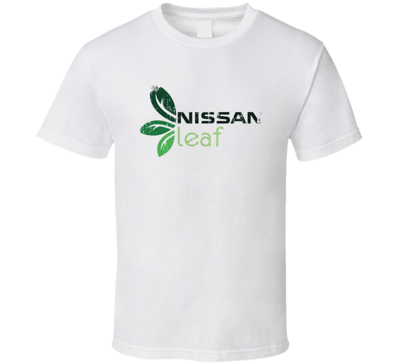 Nissan Leaf Electric Car Cool Sustainable Green Worn Look T Shirt