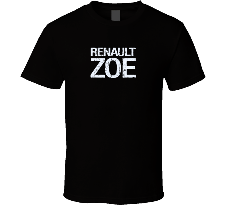 Renault Zoe Electric Car Cool Sustainable Green Worn Look T Shirt