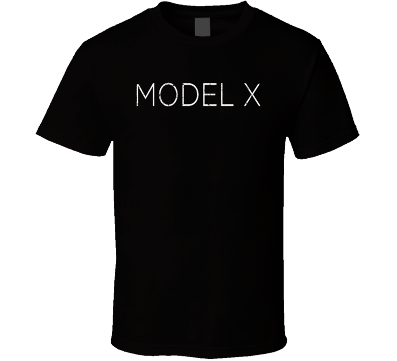 Tesla Model X 90 kW-h Electric Car Sustainable Green Worn Look T Shirt