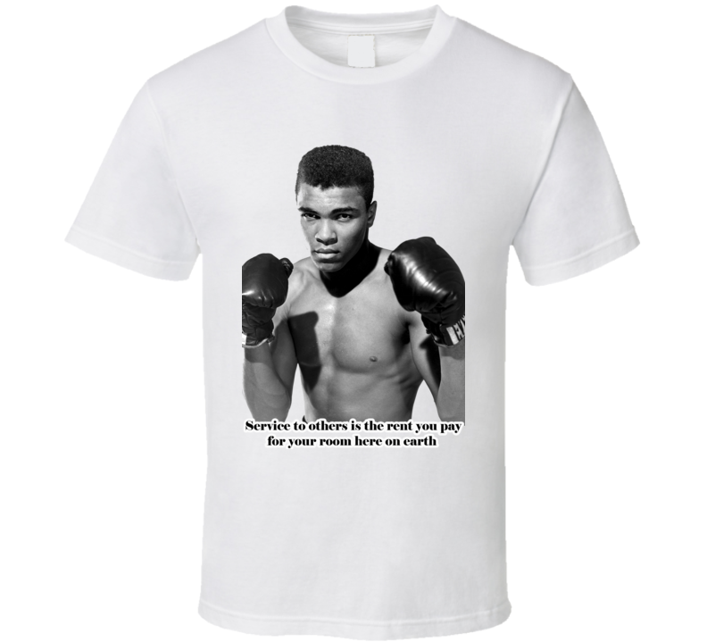 Muhammad Ali Boxing Legend Inspirational Quote Faded Look T Shirt