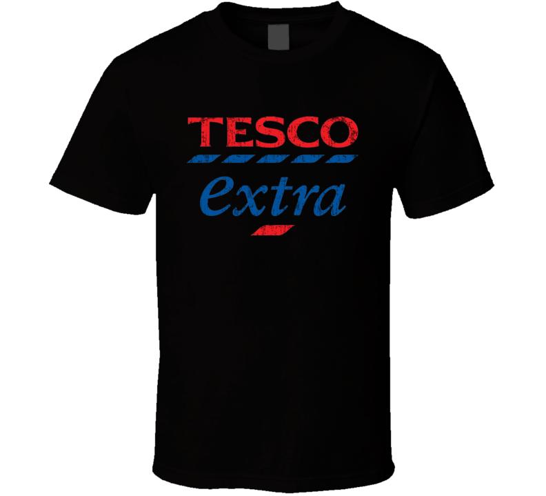 Tesco Extra Auto Fluids Gas Motor Oil Fuels Cool Worn Look T Shirt