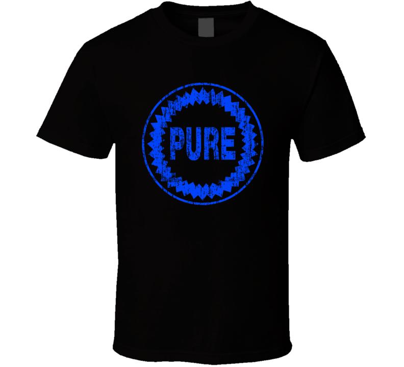 Pure Auto Fluids Gas Motor Oil Fuels Cool Worn Look T Shirt