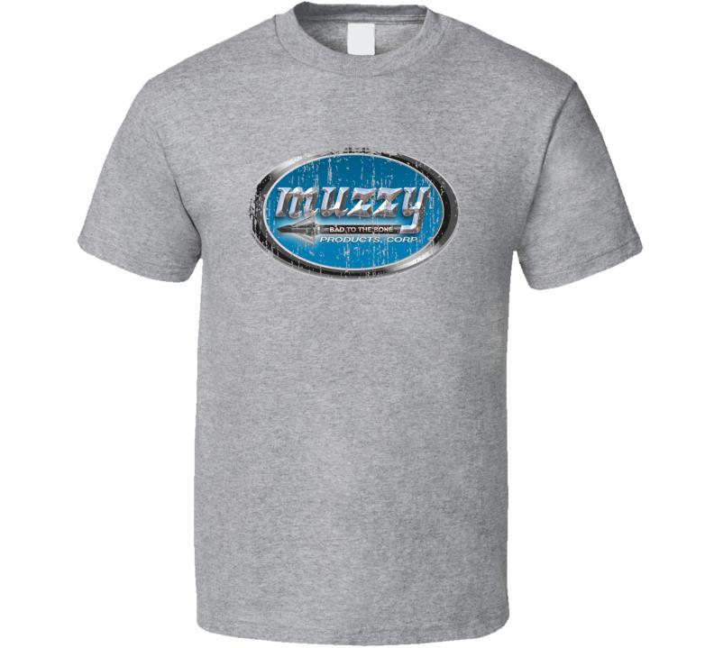 Muzzy Hunter Bear Deer Hunting Gear Cool Worn Look T Shirt