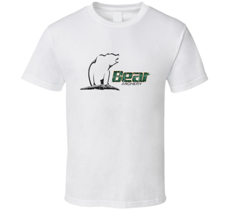 Bear Archery Hunter Bear Deer Hunting Gear Cool Worn Look T Shirt