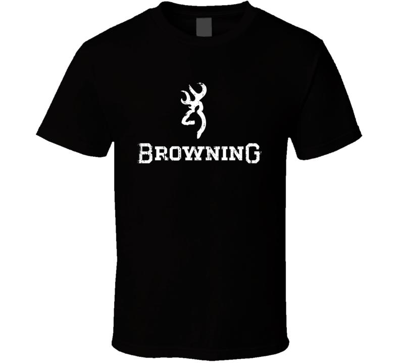 Browning Hunter Bear Deer Hunting Gear Cool Worn Look T Shirt