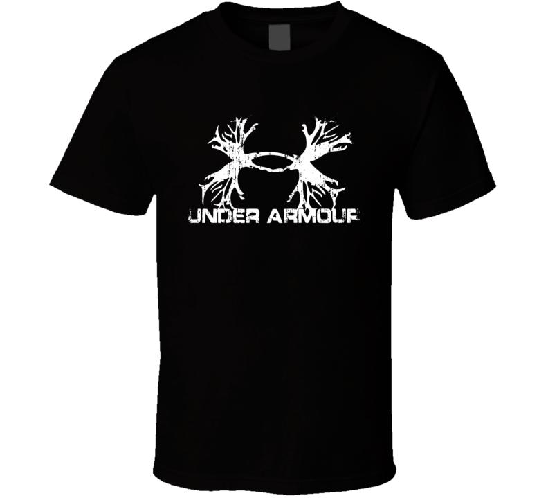 Under Armour Hunter Bear Deer Hunting Gear Cool Worn Look T Shirt