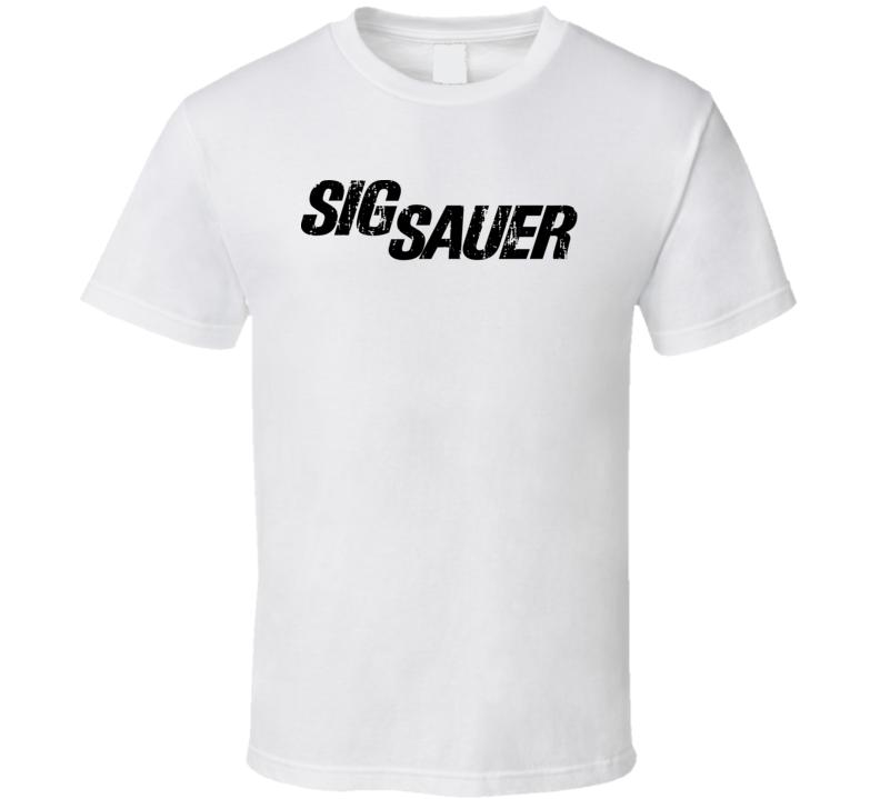 Sig Sauer Hunter Bear Deer Hunting Gear Cool Worn Look T Shirt
