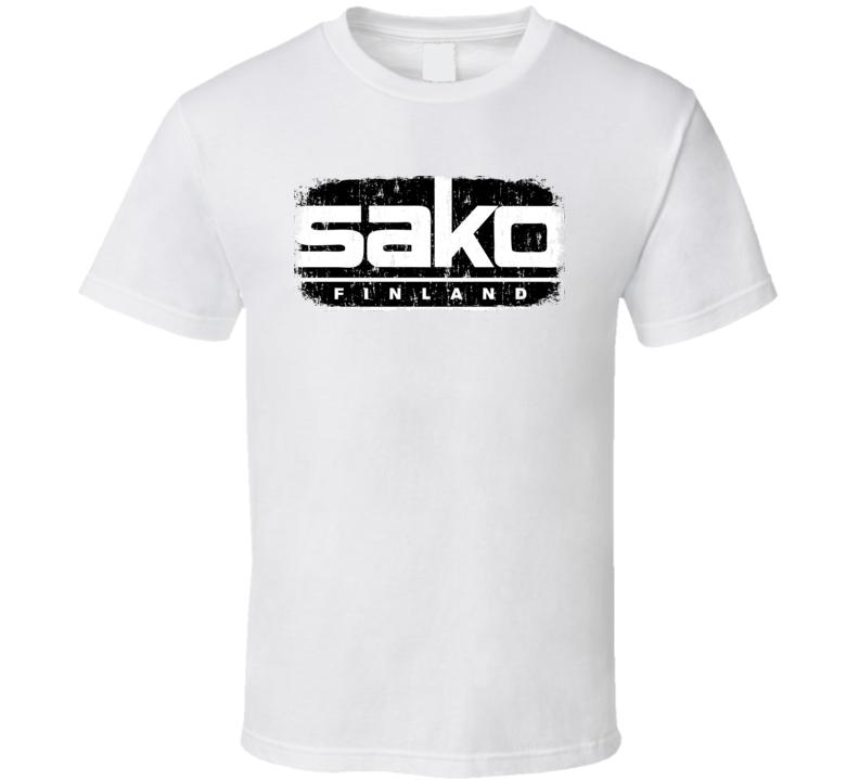 Sako Hunter Bear Deer Hunting Gear Cool Worn Look T Shirt