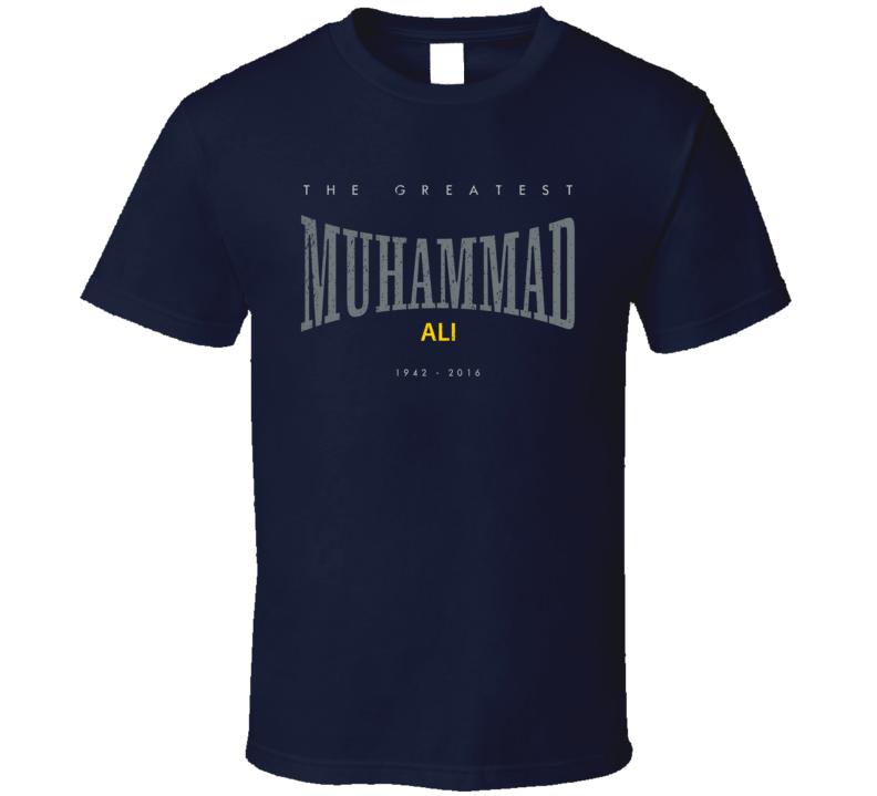 RIP Muhammad Ali 2016 The Greatest Boxer Everlasting Worn Look T Shirt