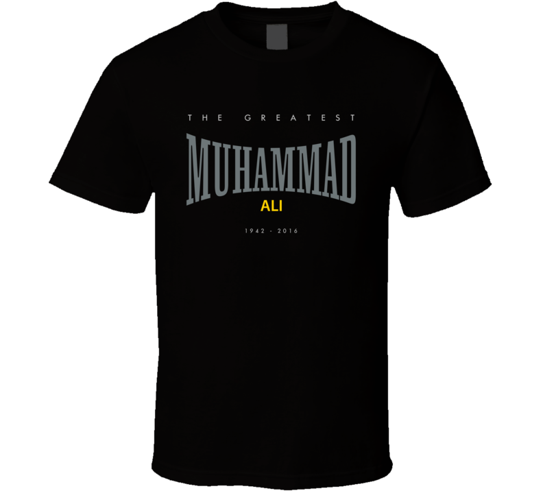 Muhammad Ali Greatest Everlasting Boxing Tribute Faded Look T Shirt