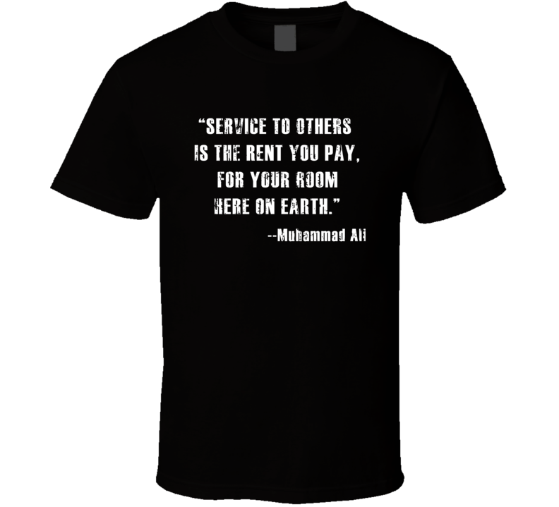 RIP Muhamamd Ali Rent You Pay for Your Room on Earth Worn Look T Shirt
