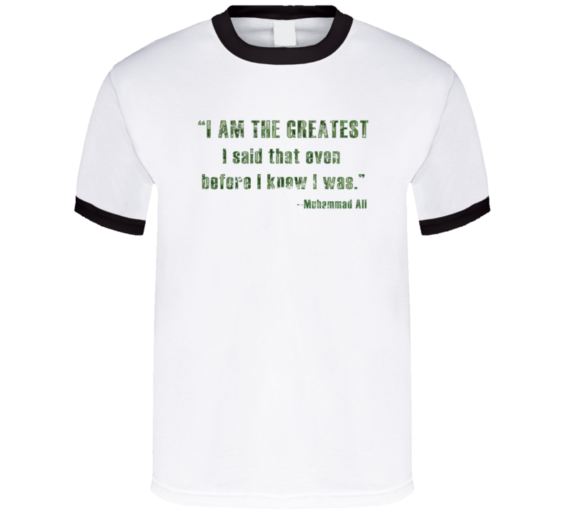 RIP Muhammad Ali Tribute I Am The Greatest Boxing Worn Look Ringer T Shirt